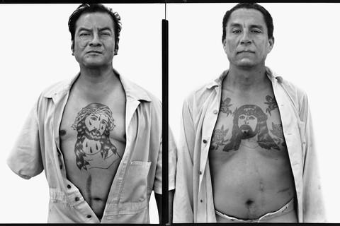 Richard Avedon, Jesus Cervantes, Manuel Heredia, prisoners, Bexar County Jail, San Antonio, Texas, June 5, 1980