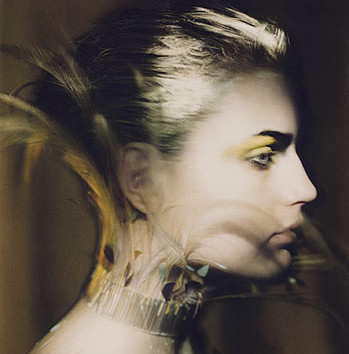 Paolo Roversi, Guinevere with a feather necklace, Paris, 1996