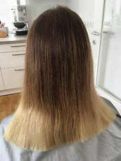 Vorher blonde Spitzen
