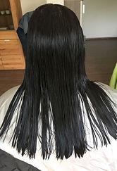 Vorher Bild langes Haar