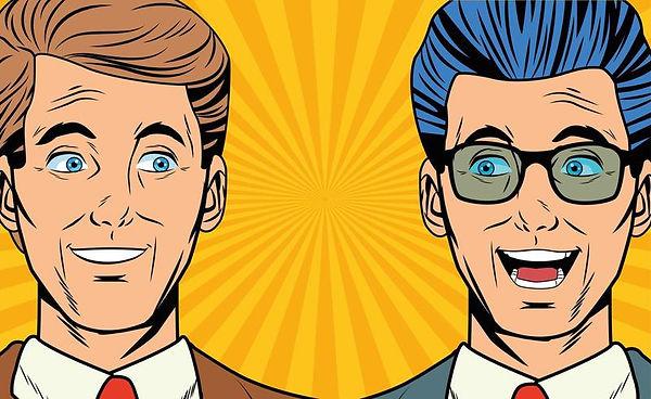 pop-art-two-business-men-smiling-faces-c