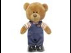 Медведь Оливер в вельветовых штанишках муз.(24см)