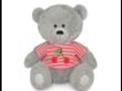 Медвежонок Масик в маечке с вишнями муз.(17.5см)