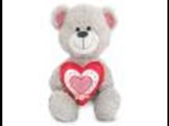 Медведь с красным серцем муз.(22см)