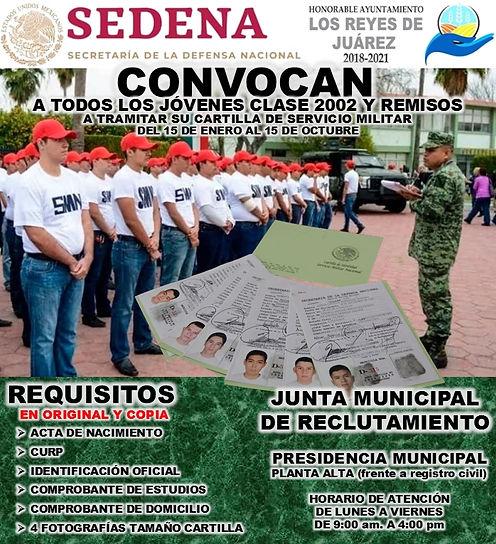 CARTILLA MILITAR 2020 LOS REEYES DE JUAREZ