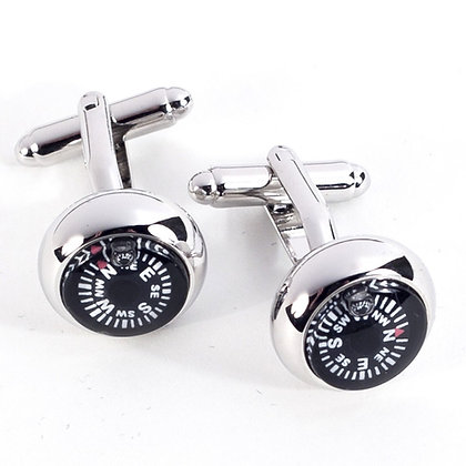 BB-J117 Cufflinks with Functioning Compass