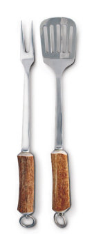 VH -V902 Natural Antler Handle BBQ Set