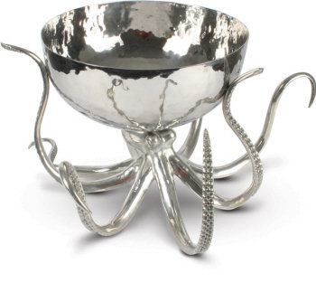 VH-O819O Octopus Pewter & Steel Ice Tub/Punchbowl