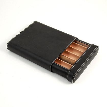 BB-C405 Five Cigar Case w/ Cedar lining