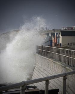 Waves pounding the South Coast