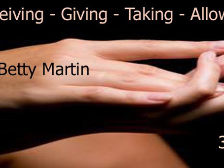 Learning to touch with Dr. Betty Martin