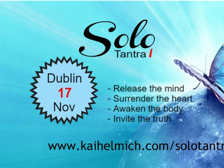 Dublin Solo Tantra workshop in Nov - book now!