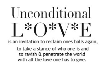 Are you returning unconditional Love