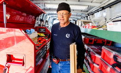 Robert in his Truck