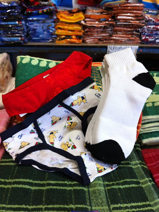 Underwear & socks from $7 for 12 pairs