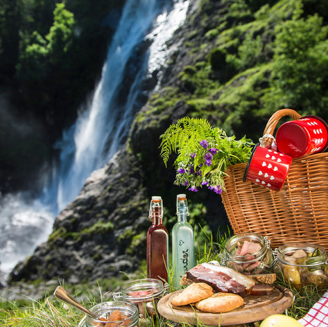 Wasserfall Partschins Picknick Helmuth R
