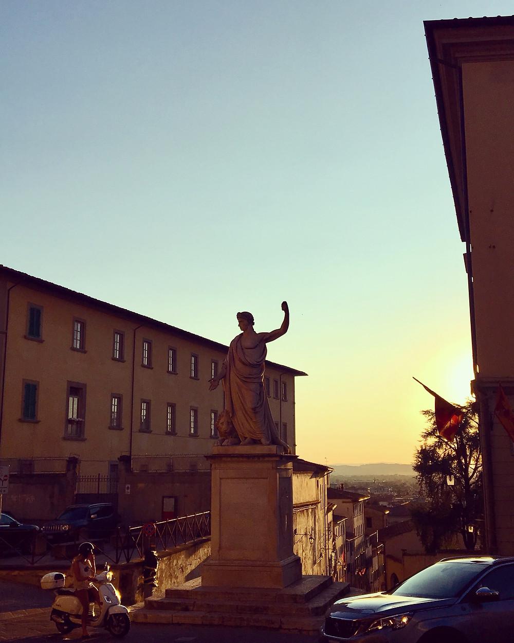 Arezzo at sunset