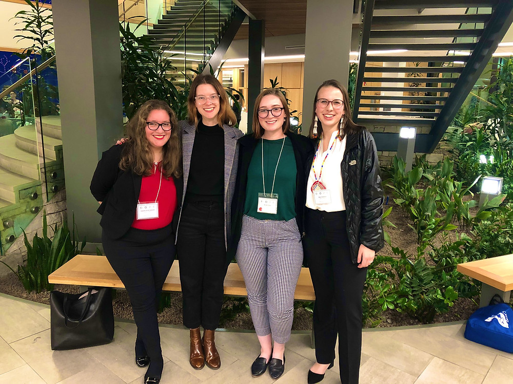 Alejandra Acuña Balbuena, Dr. Emma Colven, Brooke Foster and Maya Henderson at the DOPE conference