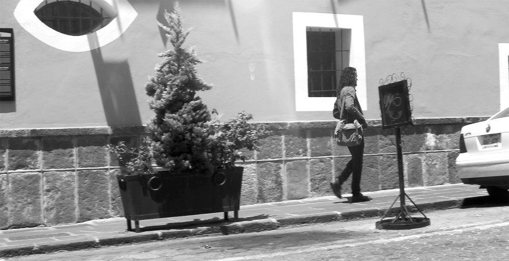 The character of Nico on a Puebla street