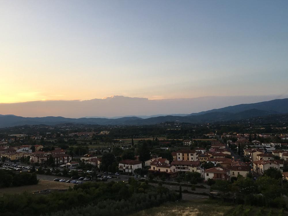 The view from Il Prato, Arezzo.