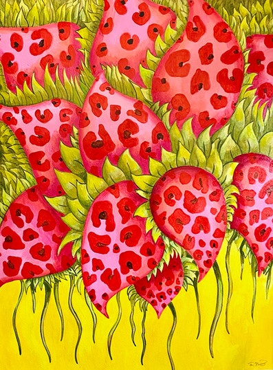 Strawberry Leopard Flowers