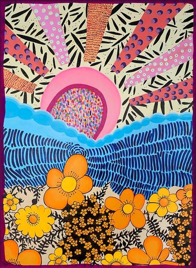 Orange Flowers and Pink Pretty Sun.jpg