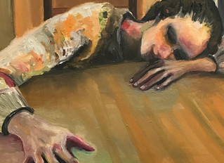 Oil painting and studying hands!