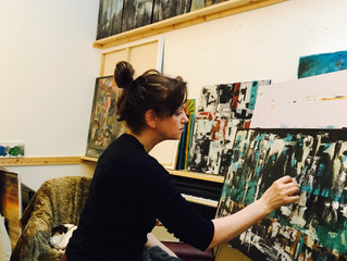 In the Studio...abstract time!