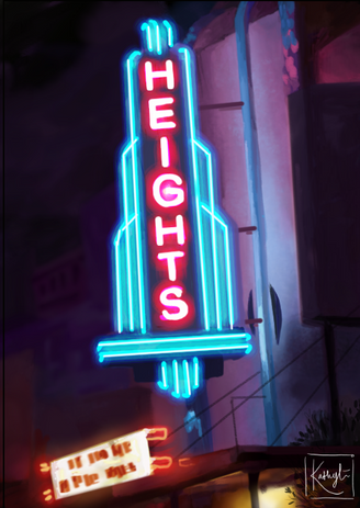 'Neon Lights' Commission