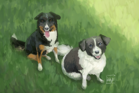 'Two Dogs' Commission