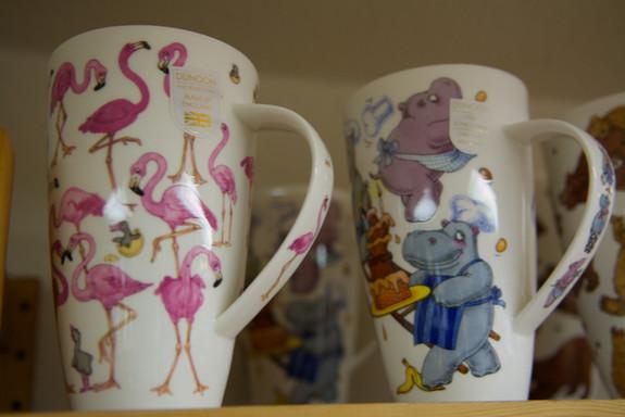 Rosa Flamingos und ...