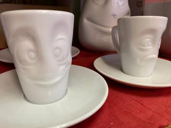 Espressotasse Gesichter