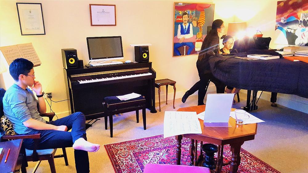 Piano master classes london