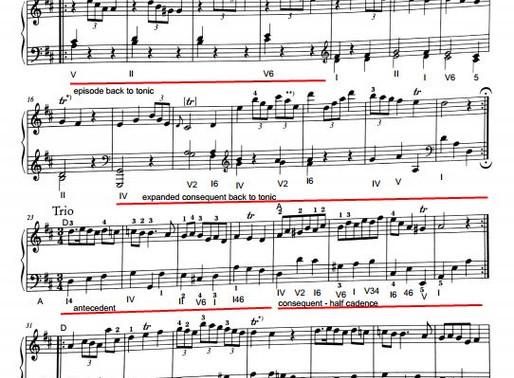 Haydn Sonata Hob. XVI.4 - Menuet and Trio