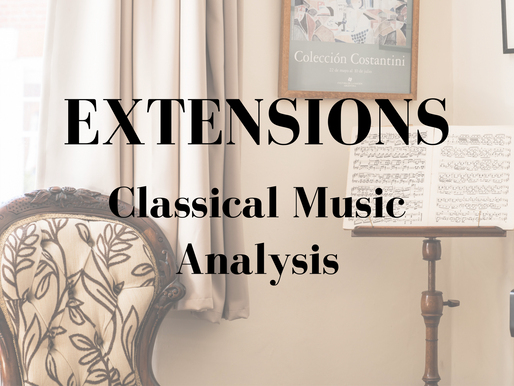 Classical Music Analysis - Extensions