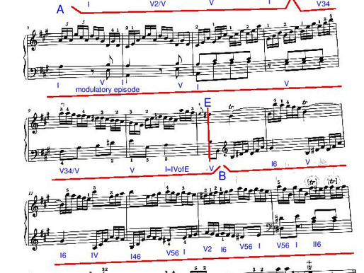 Haydn Piano Sonata Hob. XVI12 - Andante - Exposition