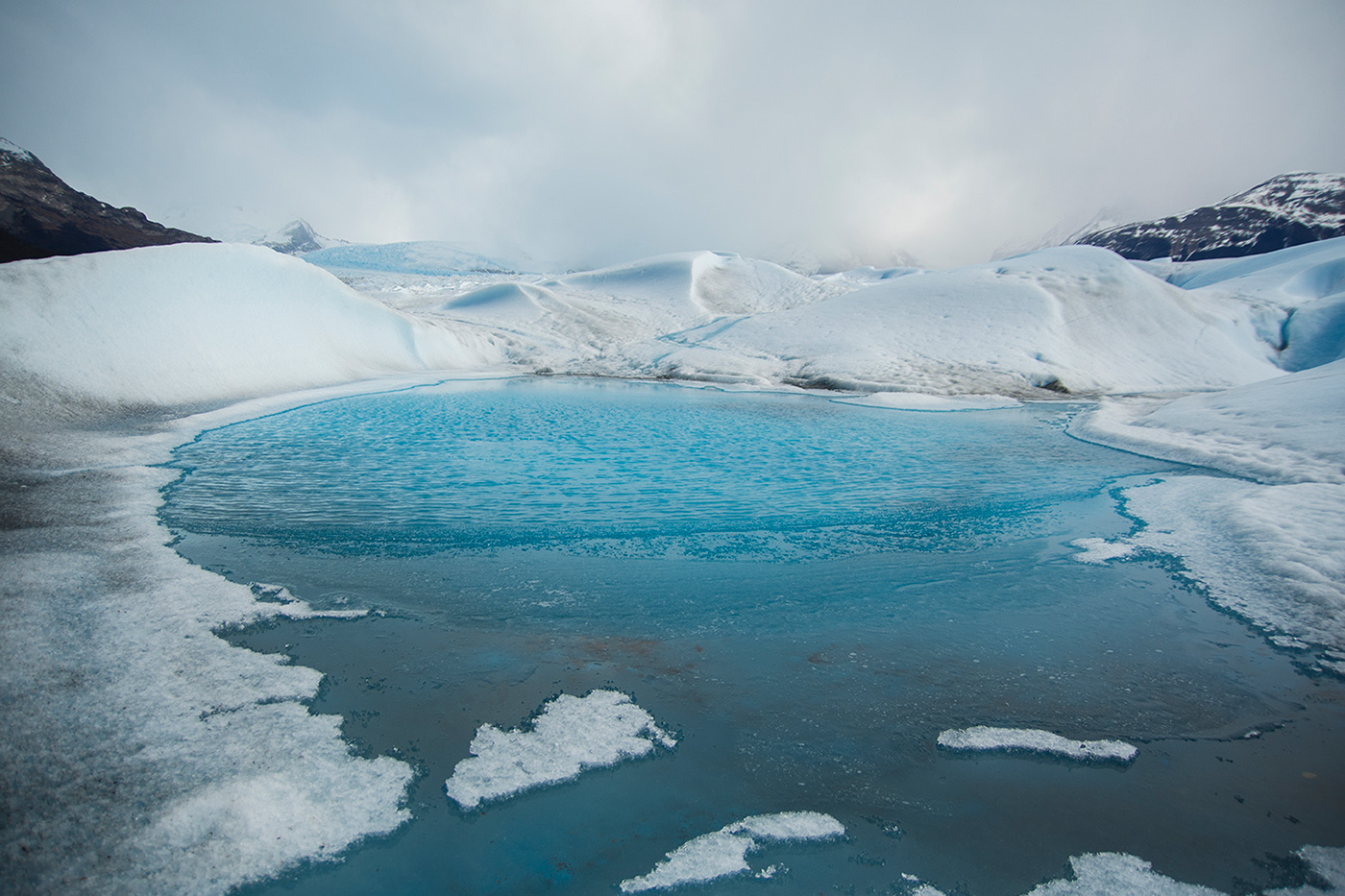 Sobre el glaciar