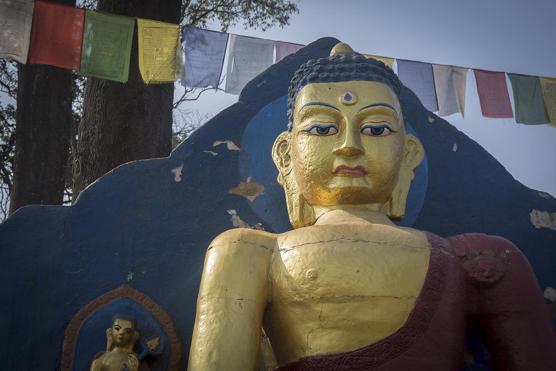 Estatau de Buda en Kathmandu