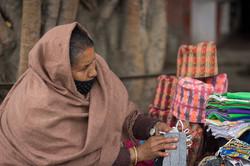 Vendedora en las calles de Kathmandu
