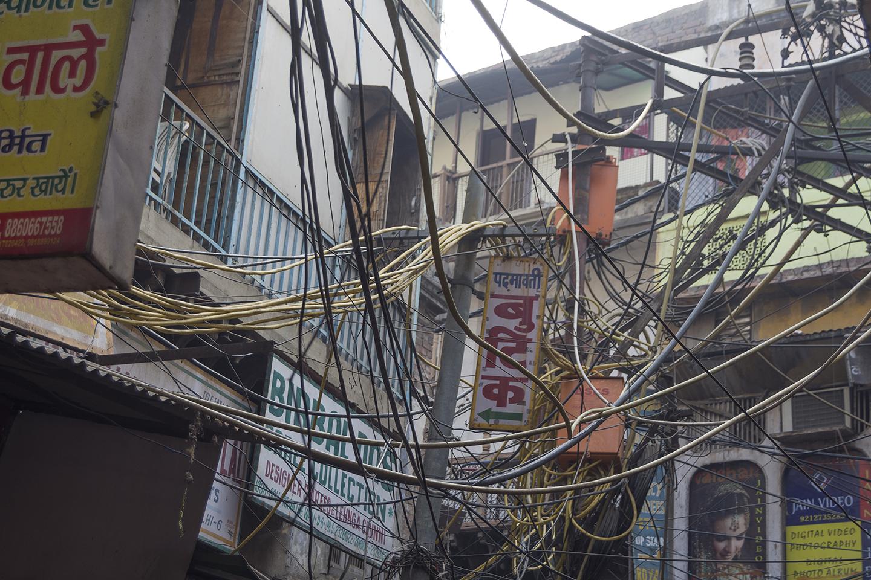 Cableado en Delhi