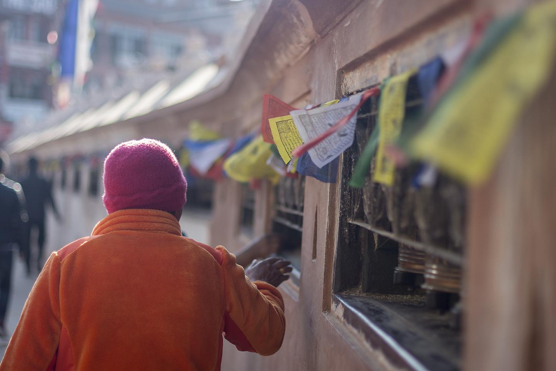 Banderas de oraciones en Boudanath