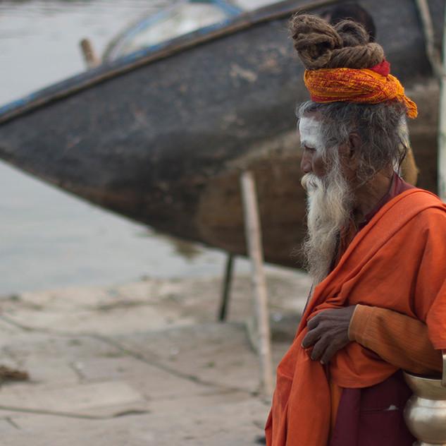 Shadu a orillas del Ganges