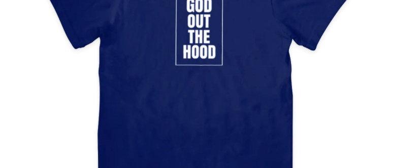 "God Out The Hood ""Ambassador T- Shirt"" Navy"