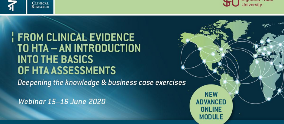 VSCR New advanced Online-Module: From Clinical Evidence to HTA 15th - 16th June 2020