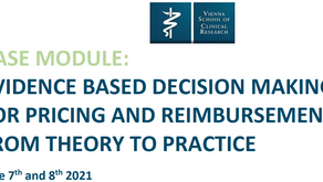 New VSCR course: Evidence Based Decision Making for Pricing and Reimbursement: Theory to Practice