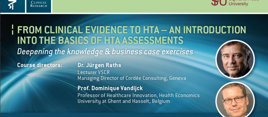 VSCR new advanced HTA course from 20th - 22nd April 2020 in Vienna