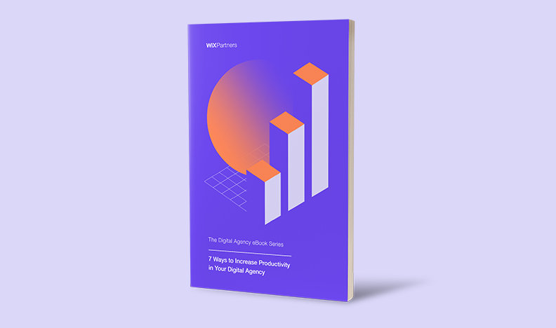 Cover of productivity eBook on purple background