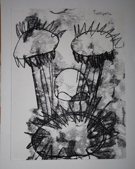Faces 1 By Rohan Kumara,Donation of € 250,00: a thank you gift:XL size art