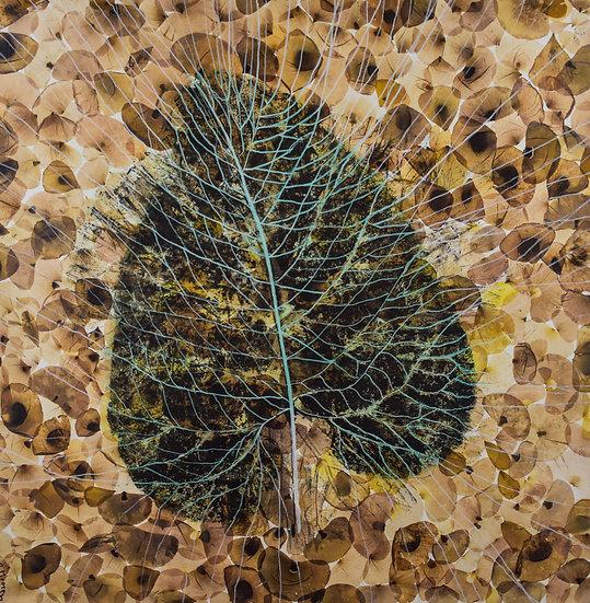 Leaf With Veins by Riet Mooren