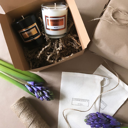 100 % Natural soy candles Discovery set Revive & Sulit